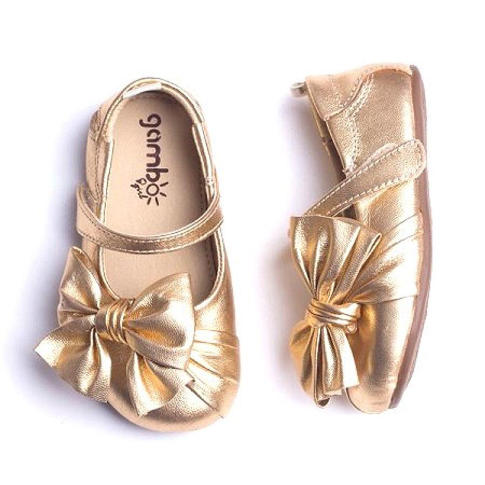 Sapatilha-Gambo-Baby-Laco-Lateral-Ouro
