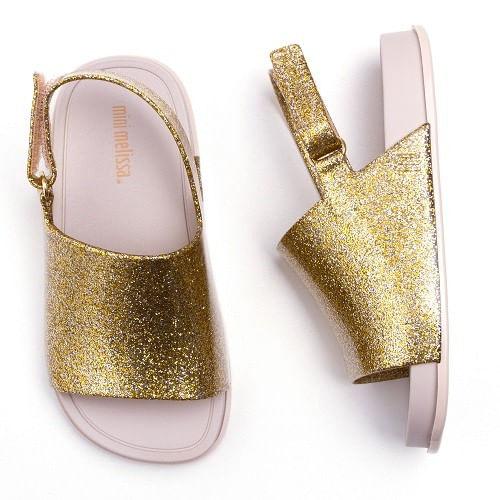 Sandalia-Mini-Melissa-Beach-Dourado-Gliter