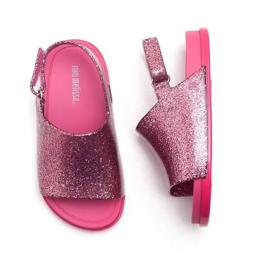 Sandalia-Mini-Melissa-Beach-Rosa-Gliter