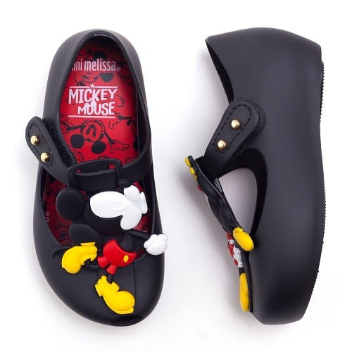 Sapatilha-Mini-Melissa-Ultragirl---Disney-Twins-Preto-Opaco