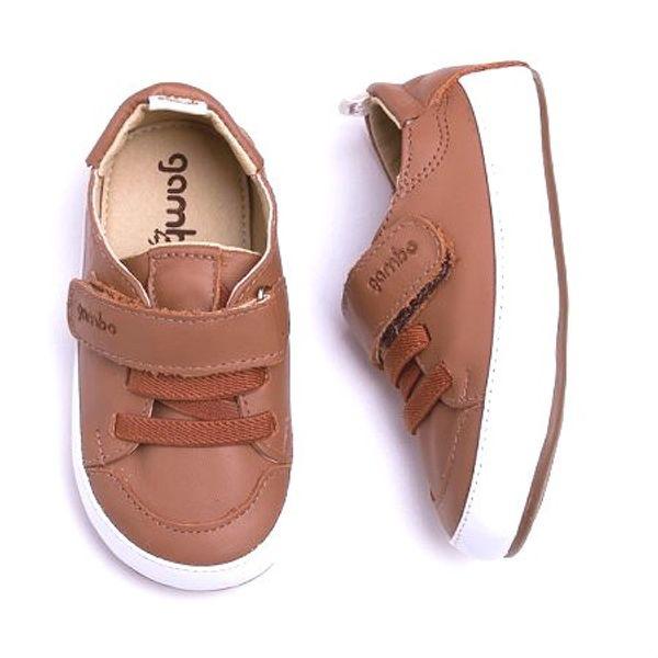 a53a12868 Tênis Gambo Baby Caramelo Velcro - laranjeiras