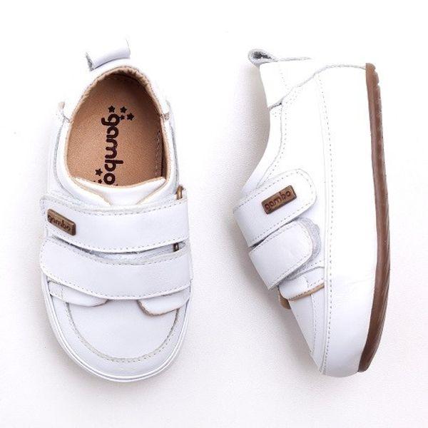 ab9477997 Tenis Gambo Baby com Velcro Branco - laranjeiras