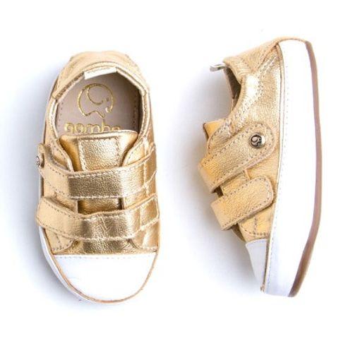 Tenis-Gambo-Baby-com-Velcro-Ouro