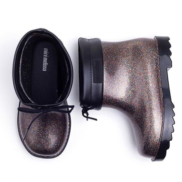 1d382d1f0a1 Galocha Mini Melissa Rain Boot Gliter Preta - laranjeiras