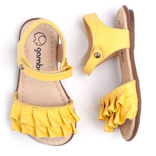 sandalia-gambo-kids-amarela-babado