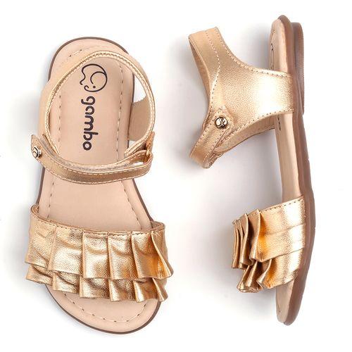 sandalia-infantil-gambo-dourada-babado