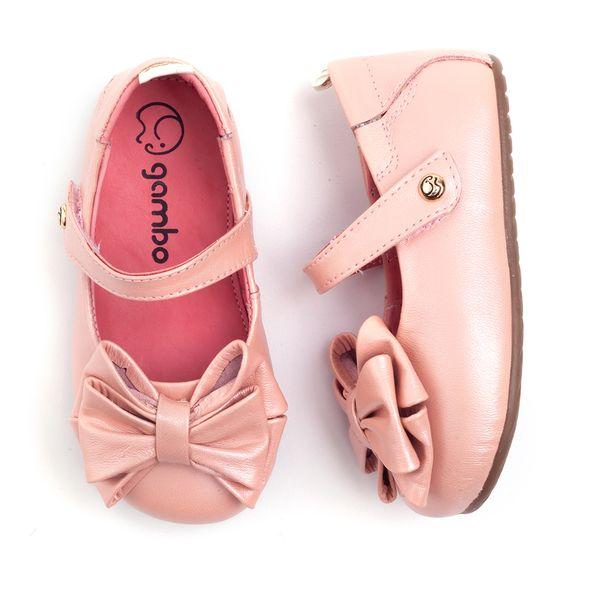 84d5476c92 Sapatilha Gambo Baby Laço Glitter Blossom - laranjeiras - mobile