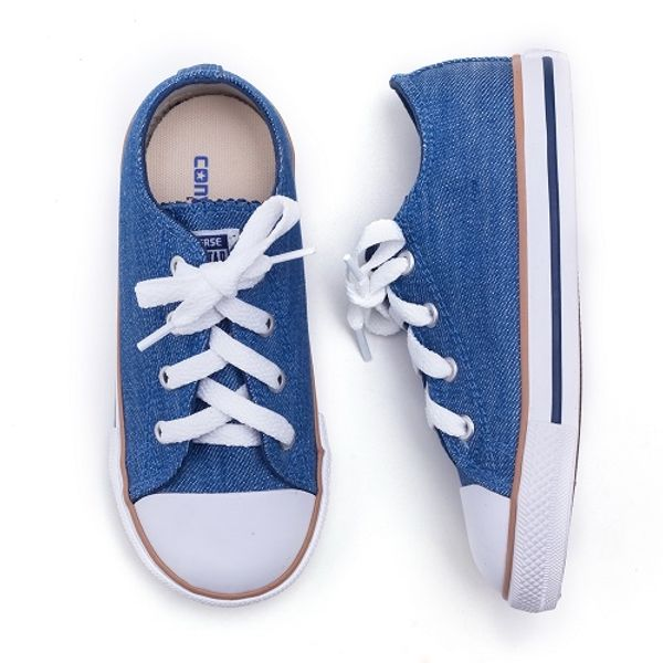85a8266ea Tenis Converse All Star Infantil Chuck Taylor Jeans (26 ao 33 ...