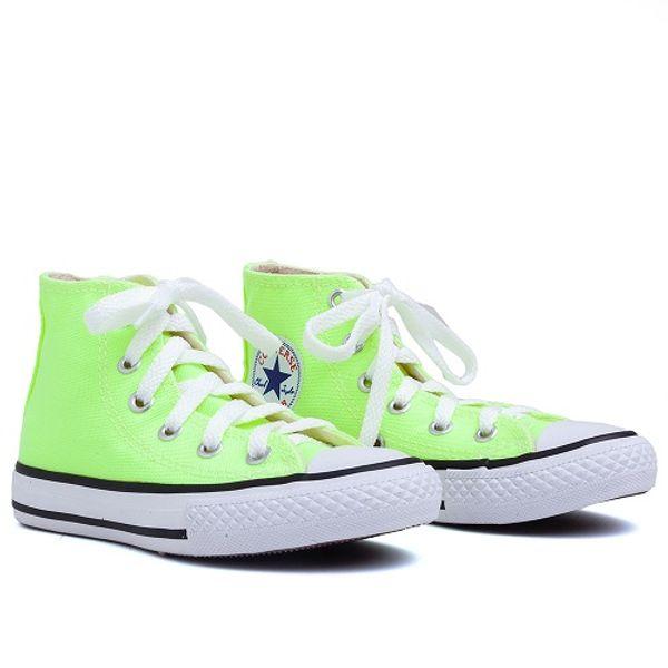 ef72987771 Tênis Converse All Star Cano Alto Verde Fluor (26-33) - laranjeiras ...