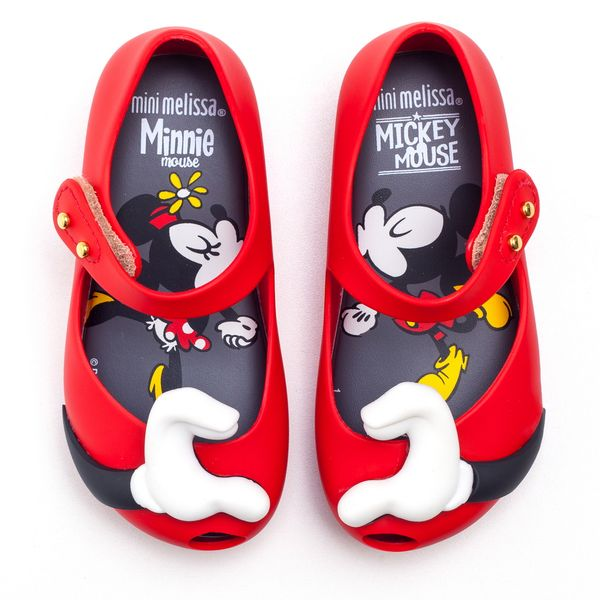 sapatilha-mini-melissa-ultragirl-disney-twins-vermelha