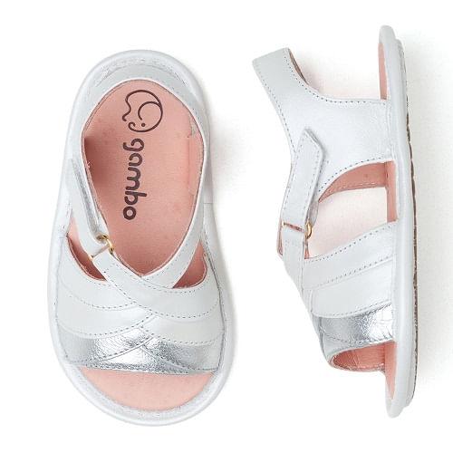 sandalia-infantil-gambo-baby-branca-e-prata