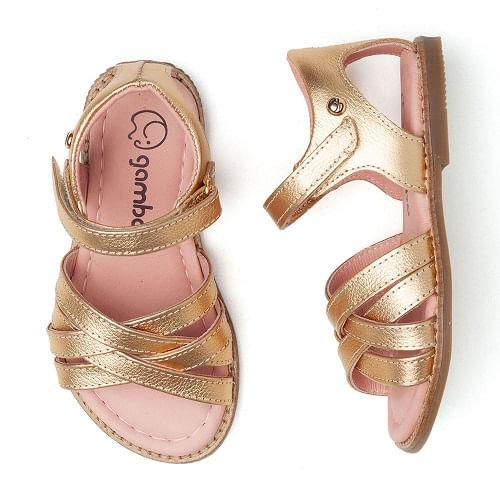 sandalia-infantil-gambo-classica-dourada