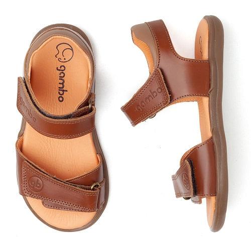 sandalia-infantil-gambo-velcro-marrom