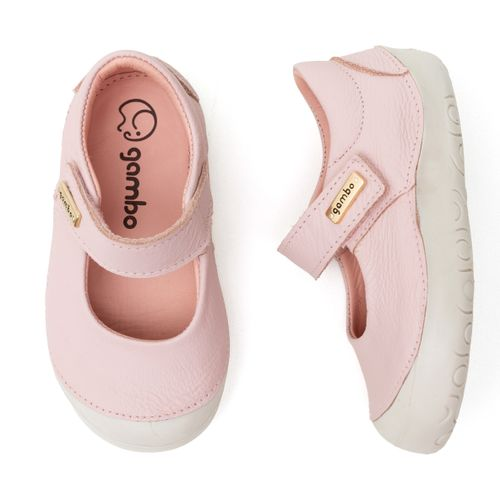 Sapatilha-Infantil-Gambo-Baby-New-Steps-Rosa-Danone