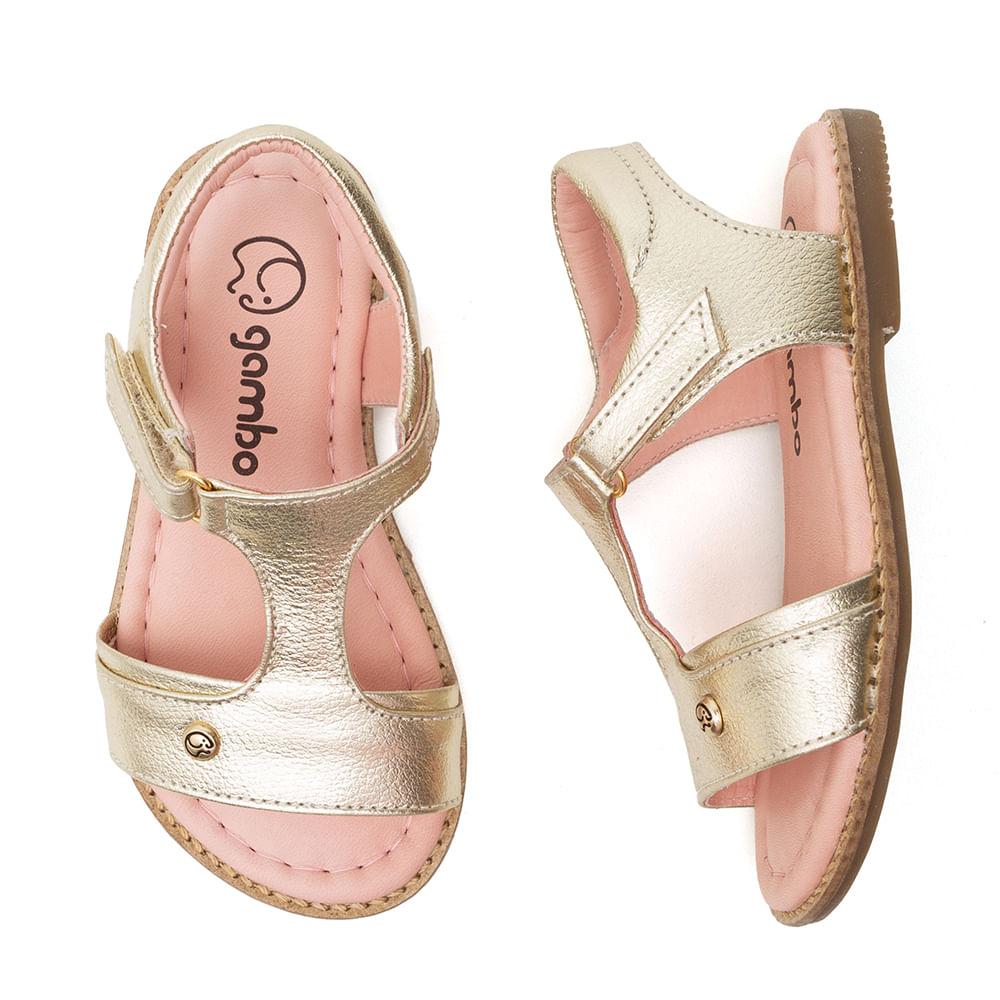 Sandalia-Infantil-Gambo-Baby-Kids-Napa-Cristal-Ouro-Light-New