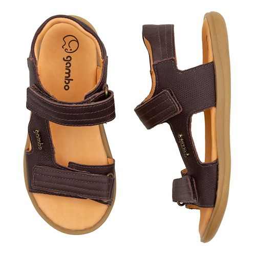 Sandalia-Infantil-Gambo-Baby-Kids-Duplo-Velcro-Marrom-Toffee