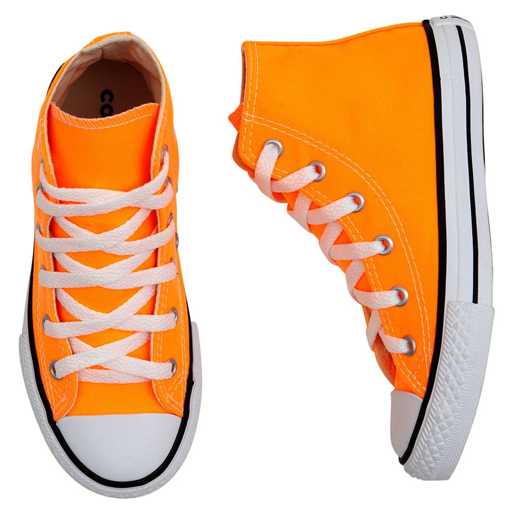 Tenis-Infantil-Converse-All-Star-Cano-Alto-Laranja-Fluorescente--26-a-33-