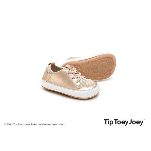 Tenis-Tip-Toey-Joey-Snuggy-Salmao-Metalico