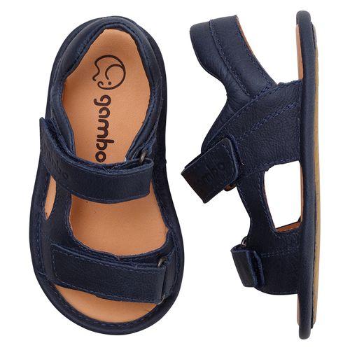 Sandalia-Infantil-Gambo-Baby-Velcro-Azul-Carbono