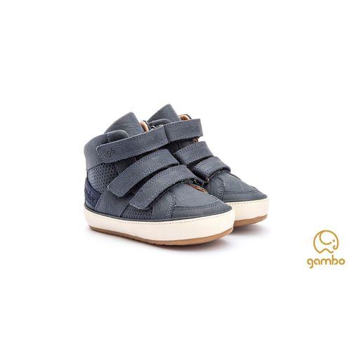 Bota-Infantil-Gambo-Baby-Velcro-Azul-Carbono