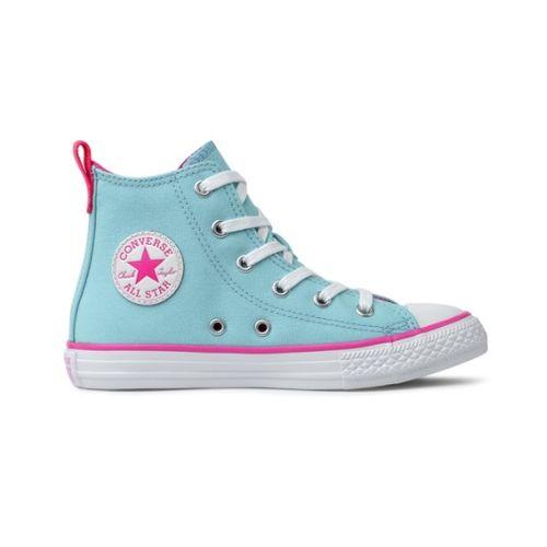 Tenis-Infantil-Converse-All-Star-Cano-Alto-Azul-Claro-e-Rosa-