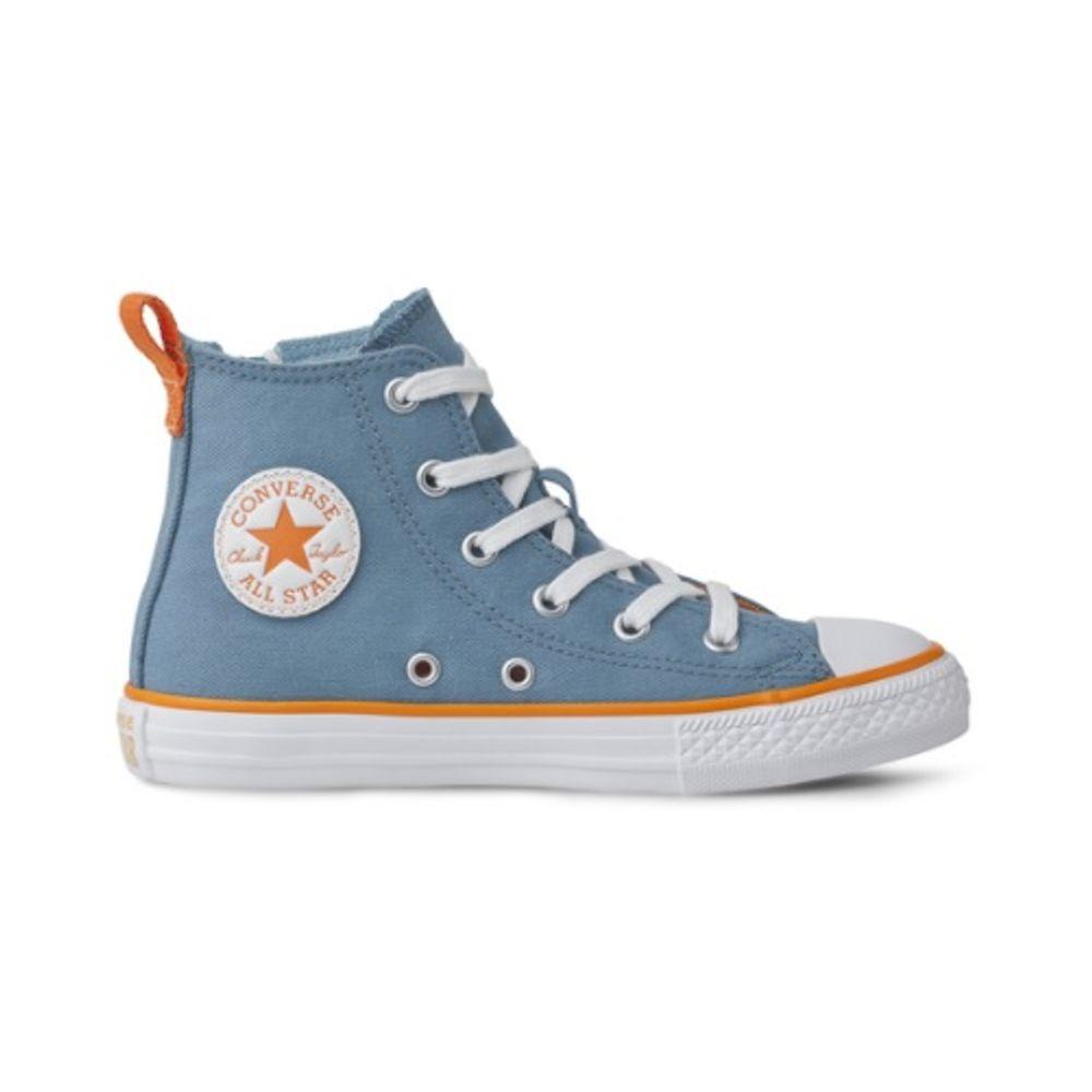 Tenis-Infantil-Converse-All-Star-Cano-Alto-Azul-Escuro-e-Laranja