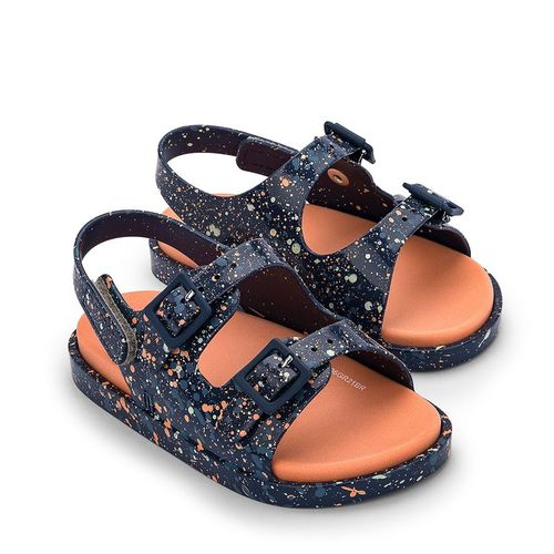 Sandalia-Mini-Melissa-Wide-Sandal-II-Azul-e-Laranja