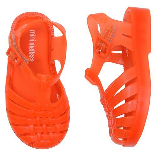 sandalia-infantil-mini-melissa-laranja-neon