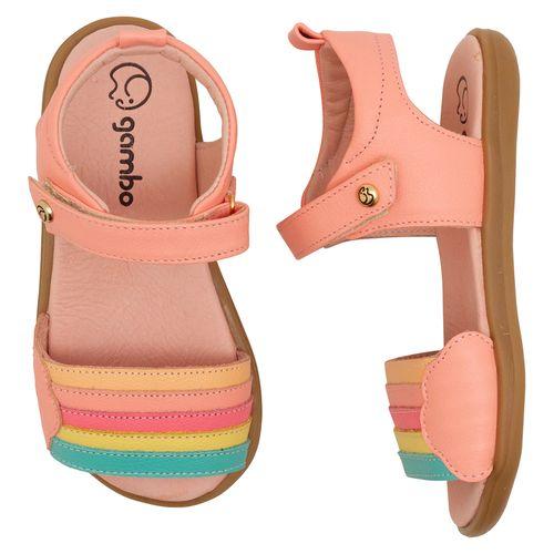 Sandalia-Infantil-Gambo-Baby-Kids-Rosa-Pessego-Colorido
